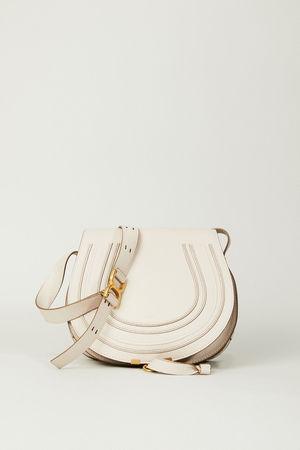 Chloé  - Umhängetasche 'Marcie Medium' Abstract White