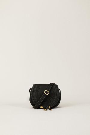 Chloé  - Umhängetasche 'Marcie Saddle Small' Black