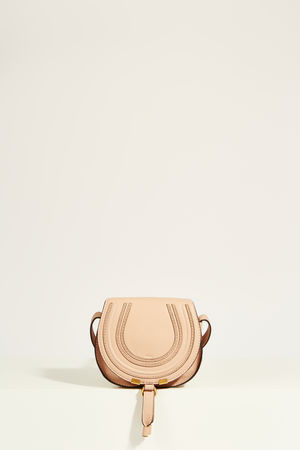 Chloé  - Umhängetasche 'Marcie Saddle Small' Blush Nude