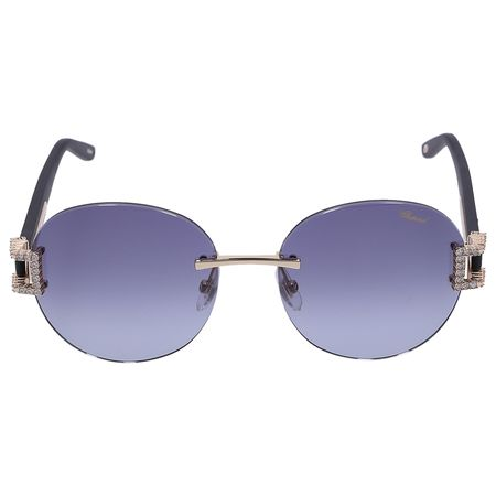 Chopard  Sonnenbrille Round C05S Metall gold blau
