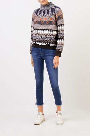 Citizens of Humanity  - Cropped-Skinny-Jeans 'Rocket Crop' Blau