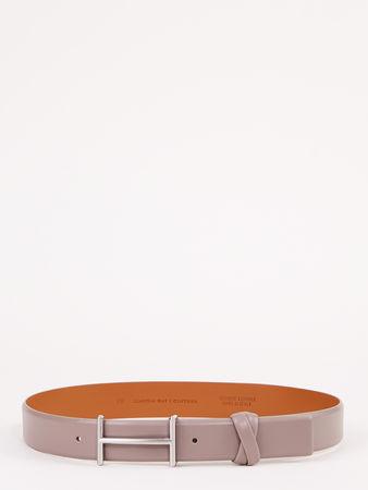 Claudia May  fashion KG - Ledergürtel mit grafischer Schnalle Taupe