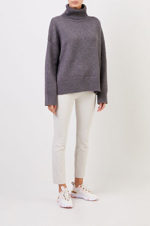 Co Collections Co - Woll-Cashmere-Pullover mit Turtleneck Anthrazit