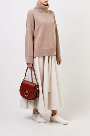 Co Collections Co - Woll-Cashmere-Pullover mit Turtleneck Taupe