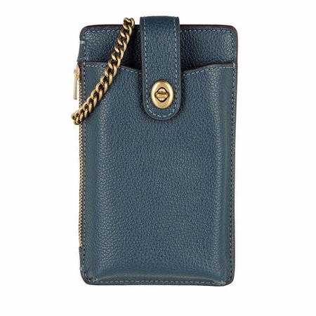 Coach  Crossbody Bags - Polished Pebble Turnlock Chain Phone Crossbody - in blau - für Damen