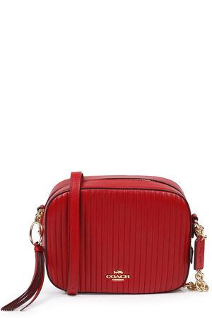 Coach  Gesteppte Camera Ledertasche Jasper Mittelrot Damen Farbe: mittelrot verfügbare Größe: One Size rot