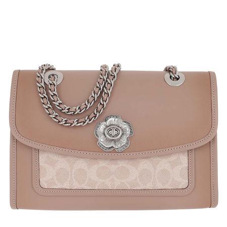 Coach  Umhängetasche  -  Canvas Signature Soft Parker Shoulder Bag Sand Taupe  - in beige  -  Umhängetasche für Damen braun