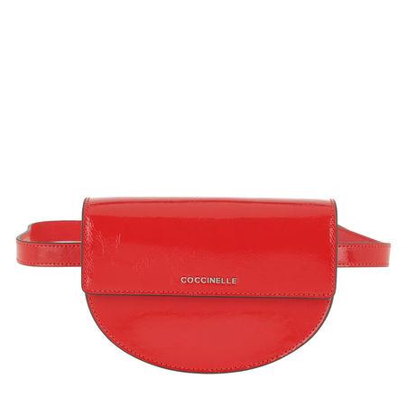 COCCINELLE  Gürteltasche  -  Danny Naplack Belt Bag Polish Red  - in rot  -  Gürteltasche für Damen rot