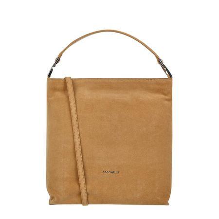COCCINELLE Hobo Bag aus Veloursleder gruen