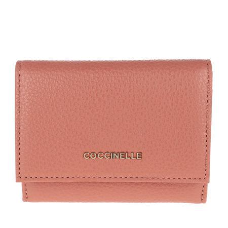 COCCINELLE  Portemonnaie  -  Metallic Soft Litchi  - in rosa  -  Portemonnaie für Damen rot