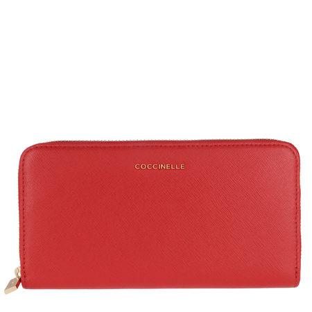 COCCINELLE  Portemonnaie  -  Portafoglio Pelle Metallic Saffiano Polish Red  - in rot  -  Portemonnaie für Damen rot