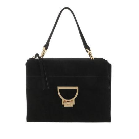 COCCINELLE  Satchel Bag - Arlettis Crossbody Leather - in black - für Damen schwarz