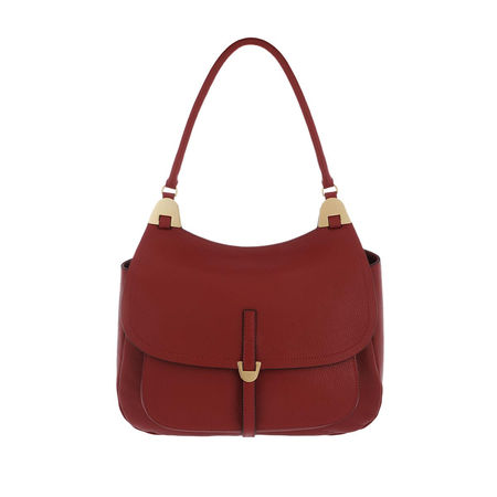 COCCINELLE  Satchel Bag  -  Fauve Crossbody Leather Foliage Red  - in rot  -  Satchel Bag für Damen