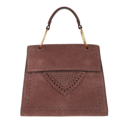 COCCINELLE  Satchel Bag  -  Lace Suede Crossbody Tote Marron Glace  - in braun  -  Satchel Bag für Damen braun