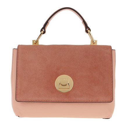 COCCINELLE  Satchel Bag  -  Liya Bicolor Rose Litchi  - in rosa  -  Satchel Bag für Damen braun