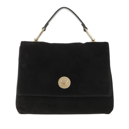 COCCINELLE  Satchel Bag  -  Liya Crossbody Leather Noir  - in schwarz  -  Satchel Bag für Damen schwarz