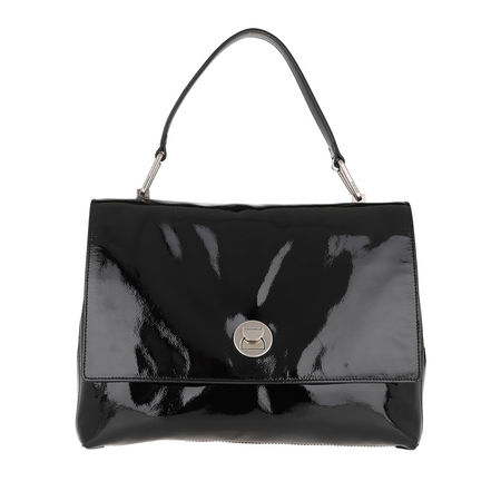 COCCINELLE  Satchel Bag  -  Liya Naplack Crossbody Bag Noir  - in schwarz  -  Satchel Bag für Damen schwarz