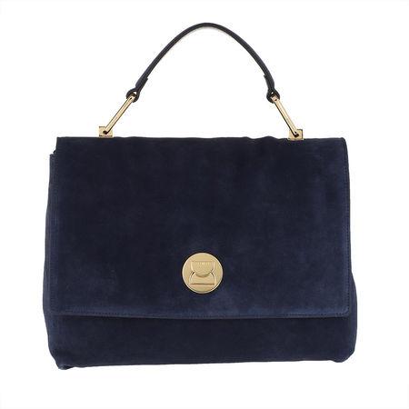 COCCINELLE  Satchel Bag  -  Liya Suede Tote Bag Ink  - in marine  -  Satchel Bag für Damen grau