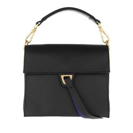 COCCINELLE  Satchel Bag  -  Louise Noir Curacao  - in schwarz  -  Satchel Bag für Damen grau