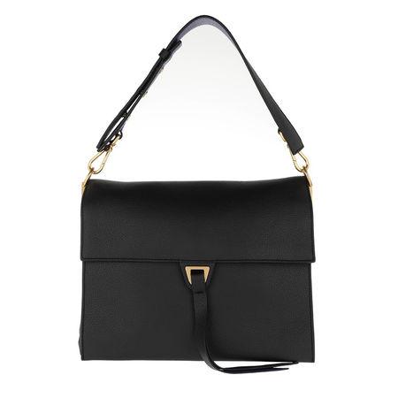COCCINELLE  Satchel Bag  -  Louise Noir Curacao  - in schwarz  -  Satchel Bag für Damen schwarz