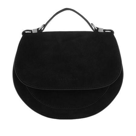 COCCINELLE  Satchel Bag  -  Sirio Suede Mini Bag Noir  - in schwarz  -  Satchel Bag für Damen schwarz
