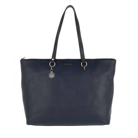 COCCINELLE  Shopper  -  Alpha Shoulder Bag Ink  - in marine  -  Shopper für Damen grau
