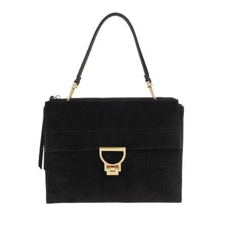 COCCINELLE  Shopper - Arlettis Suede Leather - in schwarz - für Damen schwarz