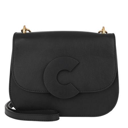 COCCINELLE  Tasche  -  Craquante Smooth Medium Crossbody Bag Noir  - in schwarz  -  Tasche für Damen schwarz