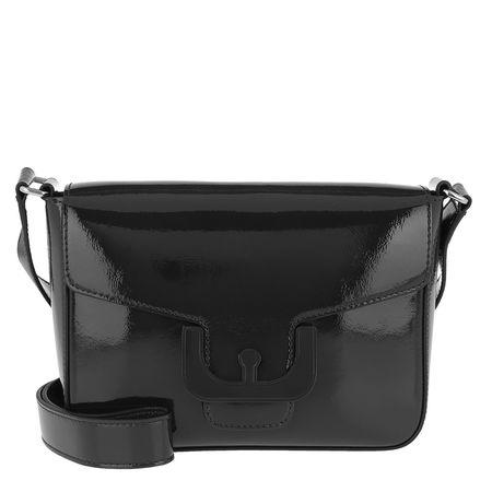 COCCINELLE  Umhängetasche  -  Ambrine Cross Naplack Crossbody Bag Noir  - in schwarz  -  Umhängetasche für Damen grau