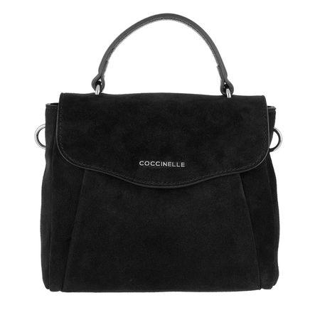 COCCINELLE  Umhängetasche  -  Andromeda Suede Crossbody Noir  - in schwarz  -  Umhängetasche für Damen schwarz