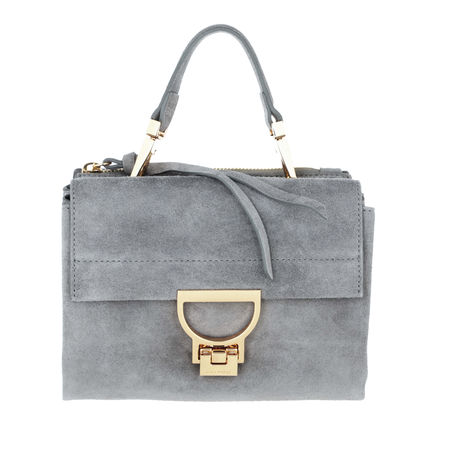 COCCINELLE  Umhängetasche  -  Arlettis Suede Crossbody Bag Glass  - in grau  -  Umhängetasche für Damen