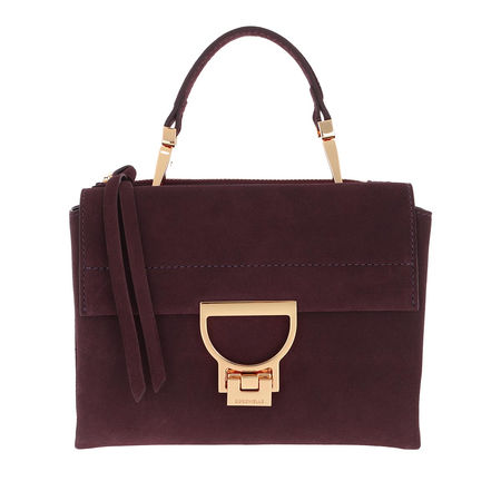 COCCINELLE  Umhängetasche  -  Arlettis Suede Crossbody Bag Plum  - in lila  -  Umhängetasche für Damen braun