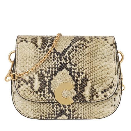 COCCINELLE  Umhängetasche  -  Craquante Python Crossbody Bag Roccia  - in beige  -  Umhängetasche für Damen braun