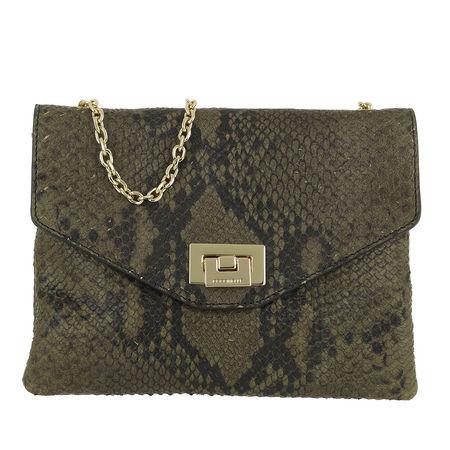 COCCINELLE  Umhängetasche  -  Florie Python Crossbody Bag Evergreen  - in grün  -  Umhängetasche für Damen grau