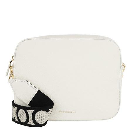 COCCINELLE  Umhängetasche  -  Tebe Crossbody Bag Chalk  - in weiß  -  Umhängetasche für Damen braun