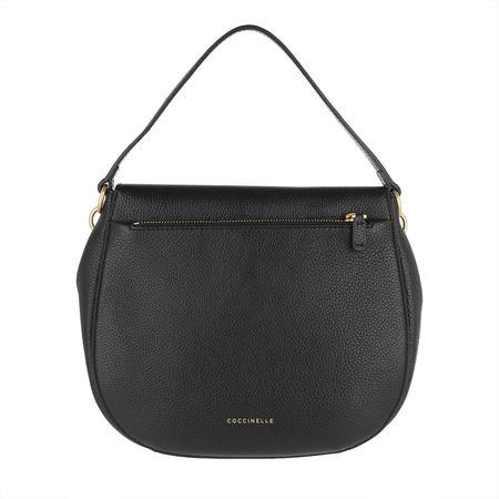 COCCINELLE  Umhängetasche  -  Zaniah Bimaterial Hobo Bag Noir  - in schwarz  -  Umhängetasche für Damen grau