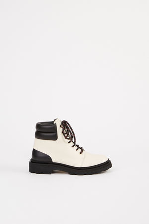 Bally  - Ankle Lace-up Boots 'Ganya' Schwarz/Creme