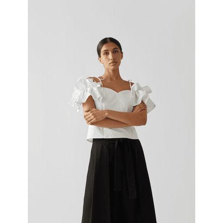 Custommade Off-Shoulder-Bluse mit Rüschen