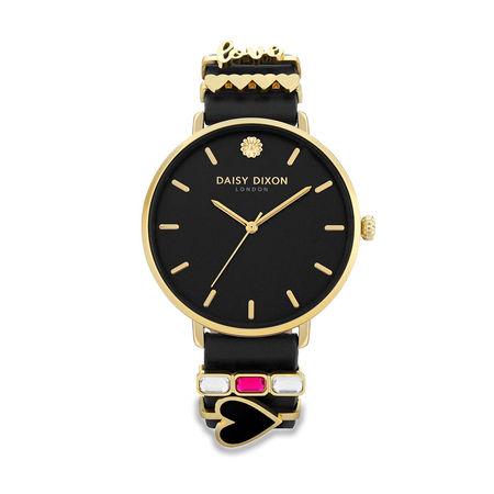 Daisy Dixon  Uhr  -  Women Watch Kendall Black  - in schwarz  -  Uhr für Damen schwarz