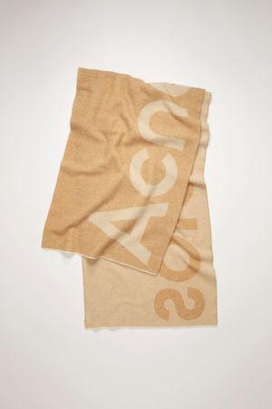 Acne Studios  FN-UX-SCAR000125 Caramel/Dark Brown  Logo-jacquard scarf grau