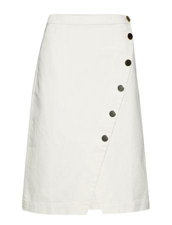 Day Birger et Mikkelsen Day Cactus Knielanges Kleid Weiß  braun