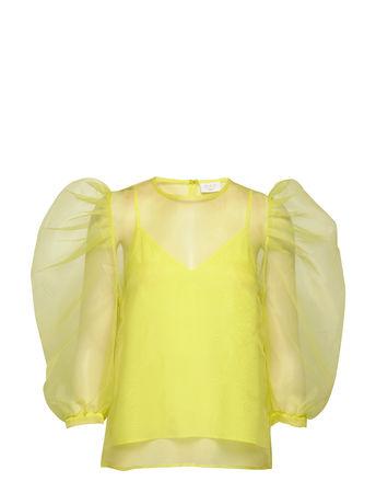 Day Birger et Mikkelsen Day Fairy Blouses Short-sleeved Gelb  gruen