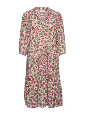 Day Birger et Mikkelsen Day Fiore Kleid Knielang Pink  braun