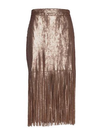 Day Birger et Mikkelsen Day Glitter Knielanges Kleid Gold  braun