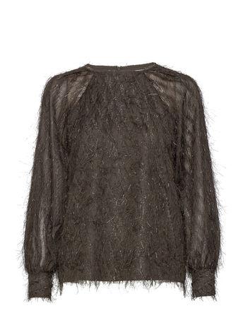 Day Birger et Mikkelsen Day Palm Bluse Langärmlig Grau  grau