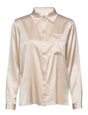 Day Birger et Mikkelsen Day Shine Langärmliges Hemd Creme  braun