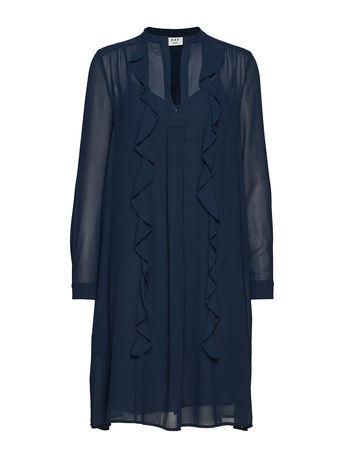 Day Birger et Mikkelsen Day Smart Kleid Knielang Blau  grau