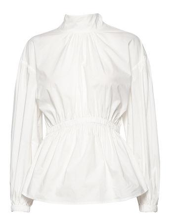 Day Birger et Mikkelsen Day Springtime Solid Bluse Langärmlig Weiß  braun