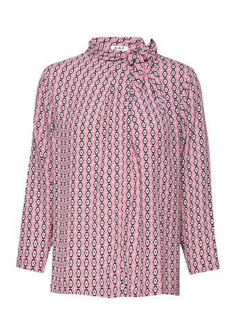 Day Birger et Mikkelsen Day Tiles Bluse Langärmlig Pink  braun