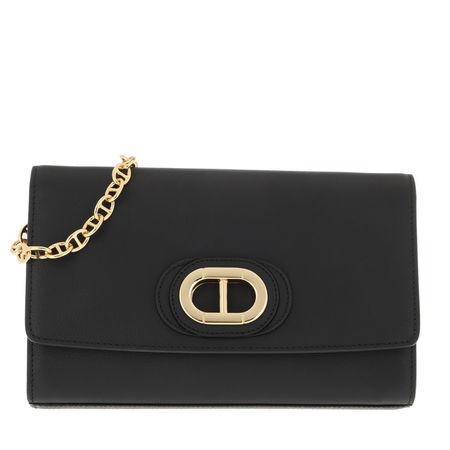 Dee Ocleppo  Umhängetasche  -  Dee Firenze Python Clutch Black  - in schwarz  -  Umhängetasche für Damen grau